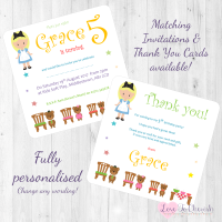 <!-- 015 -->Goldilocks & The Three Bears Fairytale Invitations & Thank You Cards
