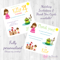 <!-- 016 -->The Frog Prince Fairytale Invitations & Thank You Cards