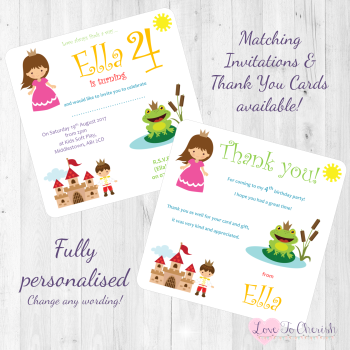 The Frog Prince Fairytale Invites & Thank You Cards