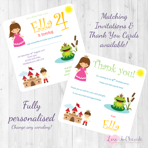 <!-- 016 -->The Frog Prince Fairytale Invites & Thank You Cards