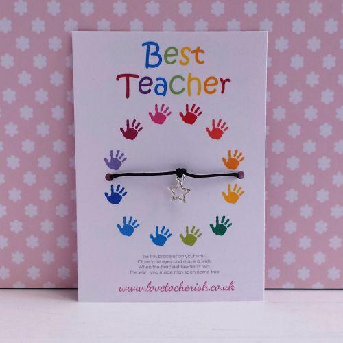 Handprint Circle Wish/Friendship Bracelet