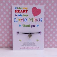 It Takes A Big Heart To Help Shape Little Minds Wish/Friendship Bracelet
