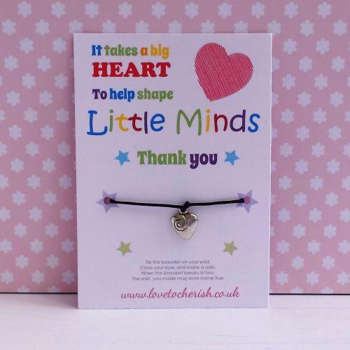 It Takes A Big Heart To Help Shape Little Minds Wish/Friendship Bracelet