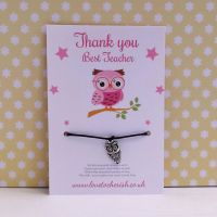 Pink Wise Owl Wish/Friendship Bracelet