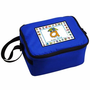 Bang On The Door Animal Alphabet Boy's Personalised Blue Lunch Bag