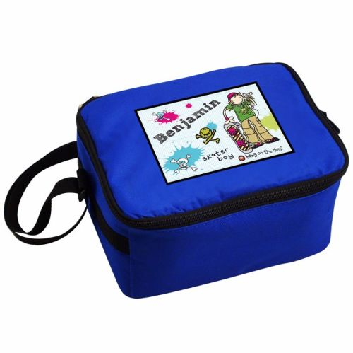 Bang On The Door Skater Boy Blue Boy's Personalised Lunch Bag
