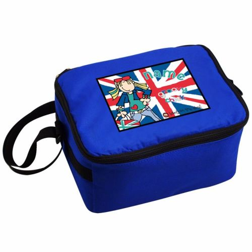 Bang On The Door London Chick Personalised Blue Lunch Bag