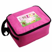 Animal Alphabet Girl's Personalised Pink Lunch Bag