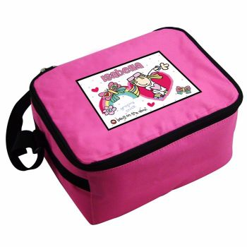 Bang On The Door Groovy Chick Personalised Pink Lunch Bag