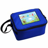 Animal Alphabet Boy's Personalised Blue Lunch Bag