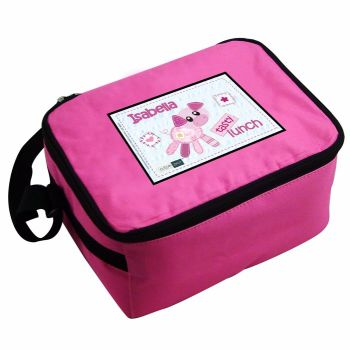 Cotton Zoo Organdie the Piglet Personalised Pink Lunch Bag