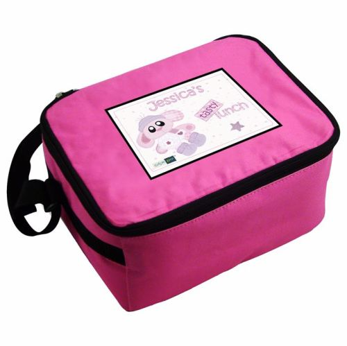 Cotton Zoo Bobbin the Bunny Personalised Pink Lunch Bag