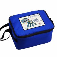 Cotton Zoo Denim The Lion Personalised Blue Lunch Bag