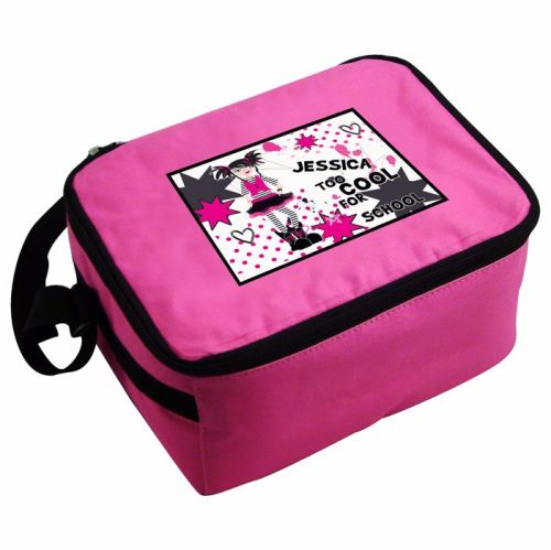 Tool Cool Girl's Personalised Pink Lunch Bag