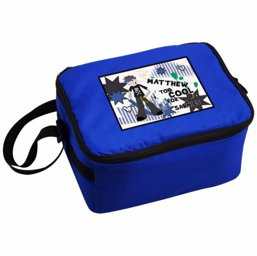 Tool Cool Boy's Personalised Blue Lunch Bag