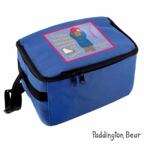 Paddington Bear Personalised Blue Lunch Bag