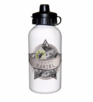 Camo Army Personalised Drinks Bottle