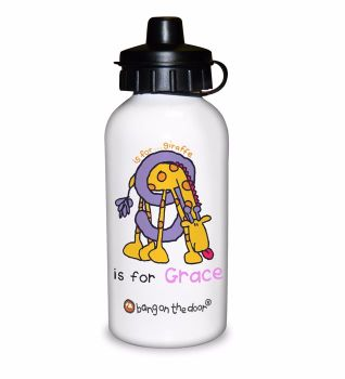 Bang On The Door Animal Alphabet Girl's Personalised Drinks Bottle