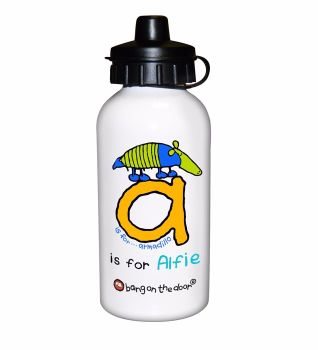 Bang On The Door Animal Alphabet Boy's Personalised Drinks Bottle
