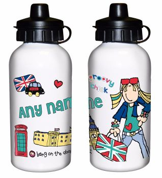 Bang On The Door London Chick Personalised Drinks Bottle