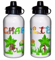 Animal Alphabet Boy's Personalised Drinks Bottle