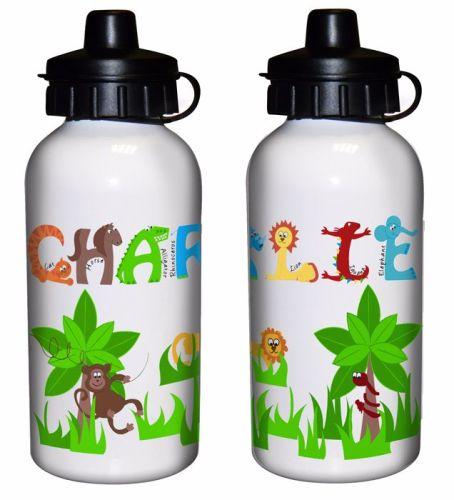 Animal Alphabet Boy's Personalised Drinks Bottle