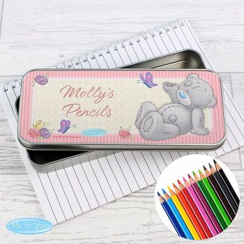 Me To You Personalised Pencil Tin & Coloured Pencils