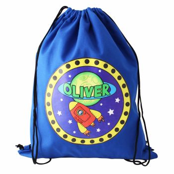 Space Rocket Personalised Swim & Kit Bag