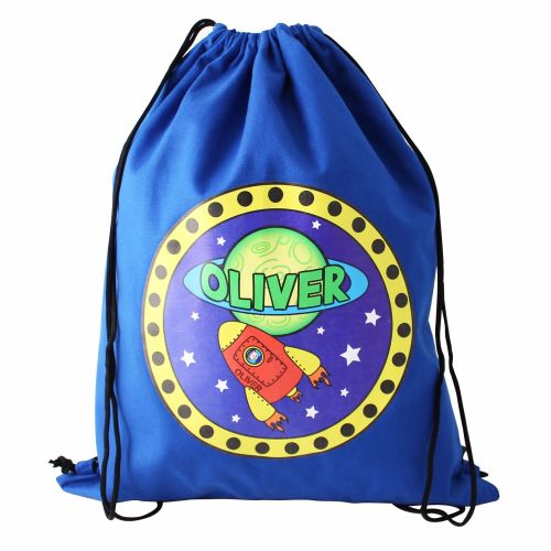 Space Rocket Personalised Swim & Kit Bag