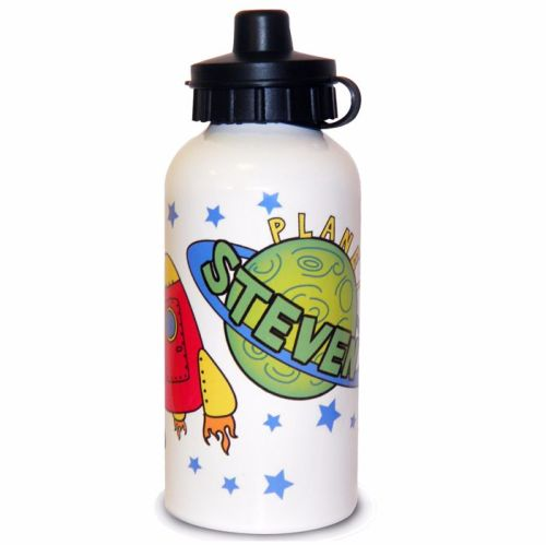 Space Rocket Personalised Drinks Bottle