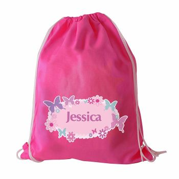 Butterfly Personalised Swim & Kit Bag