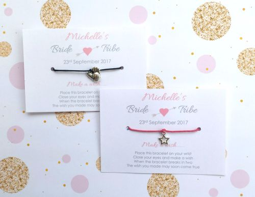 PERSONALISED Bride Tribe Hen Party Wish/Friendship Bracelets