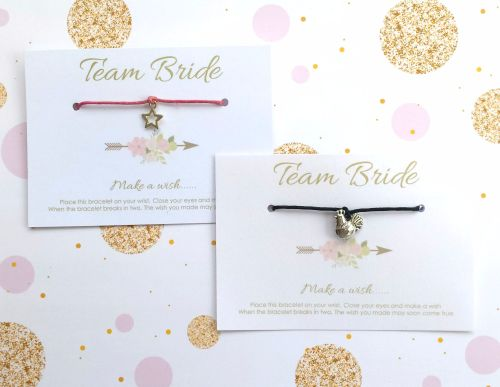Team Bride Hen Party Wish/Friendship Bracelets