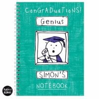 Purple Ronnie Male Graduation A5 Notebook