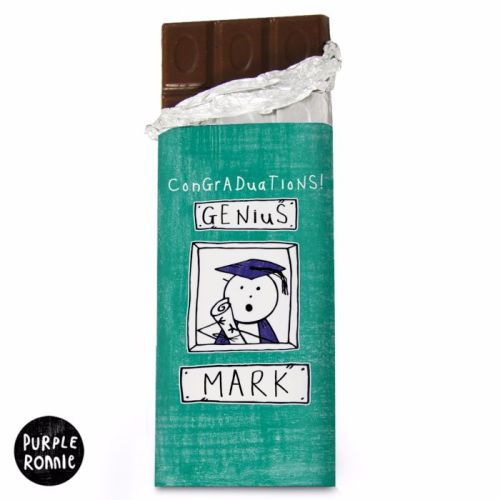 Purple Ronnie Male Graduation Milk Chocolate Bar
