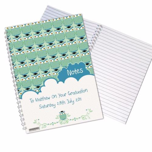Mr Owl Male Graduation A5 Notebook