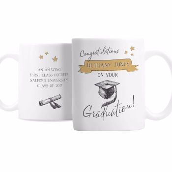 Gold Star Graduation Mug
