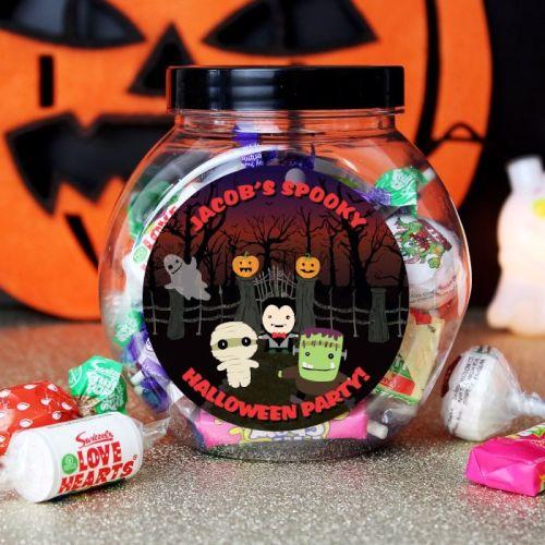 Halloween Personalised Sweet Jar