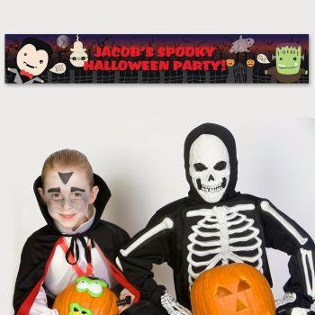 Halloween Personalised Banner