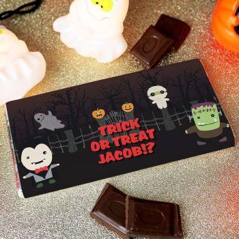 Halloween Personalised Chocolate Bar
