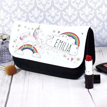 Unicorn Personalised Make Up Bag