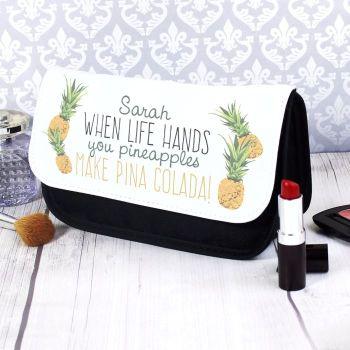 Pineapple Personalised Make Up Bag