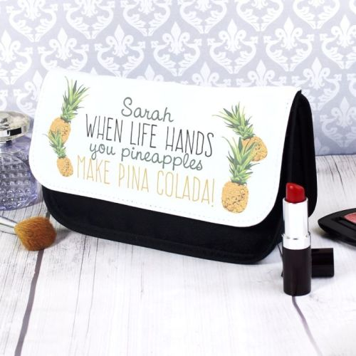 Pineapple Personalised Make Up Bag