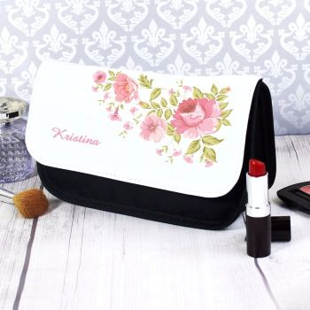 Pretty Rose Personalised Make Up Bag