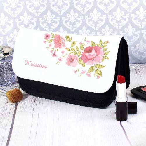 Pretty Rose Personalised Make Up Bag