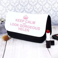 Keep Calm Personalised Make Up Bag