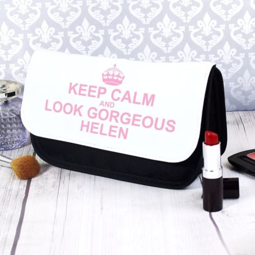 Keep Calm Personalised Make Up Bag