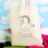 Unicorn Personalised Cotton Bag