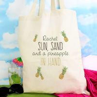 Pineapple Personalised Cotton Bag