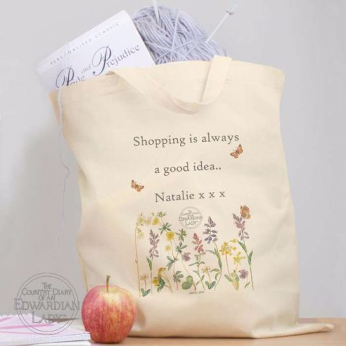 Country Diary Personalised Cotton Bag